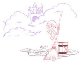 Apr 1st: Castle on a Cloud by pro-mole