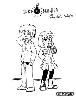 Inktober 2014 - #14 - Kim Pine and Stephen Stills