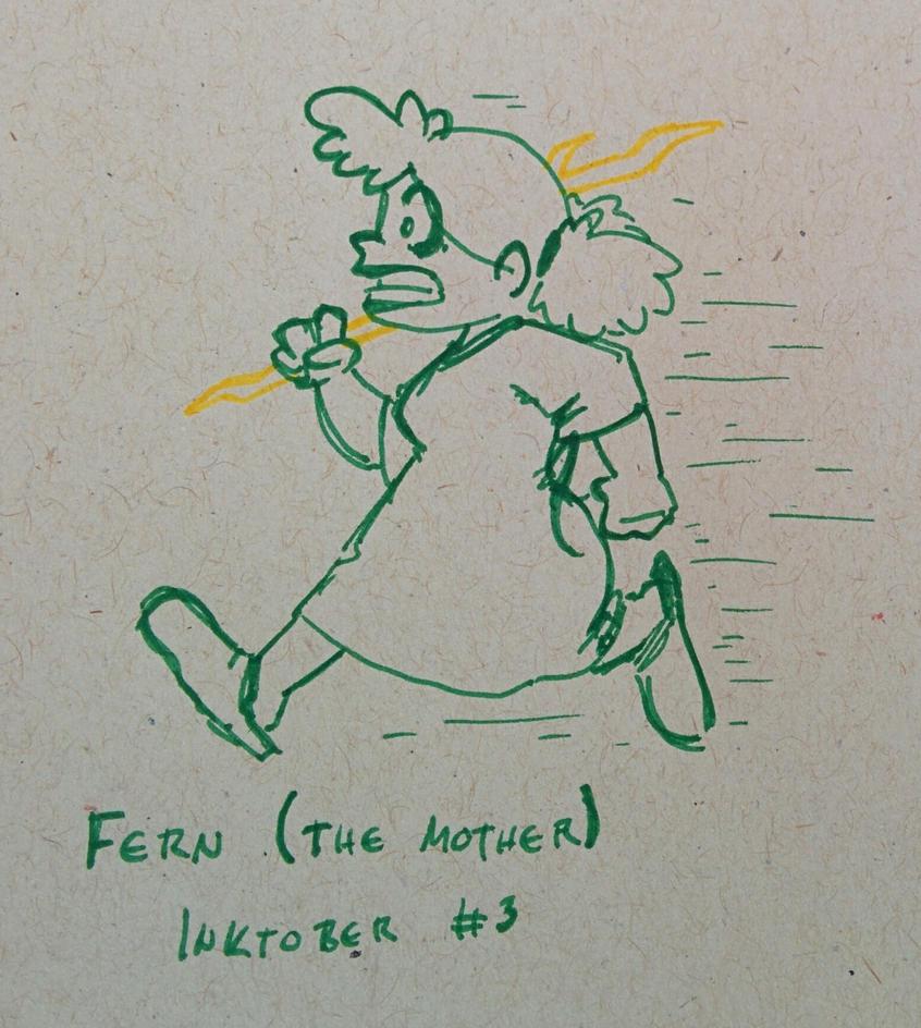 #Inktober 2017 - Fern Green by pro-mole