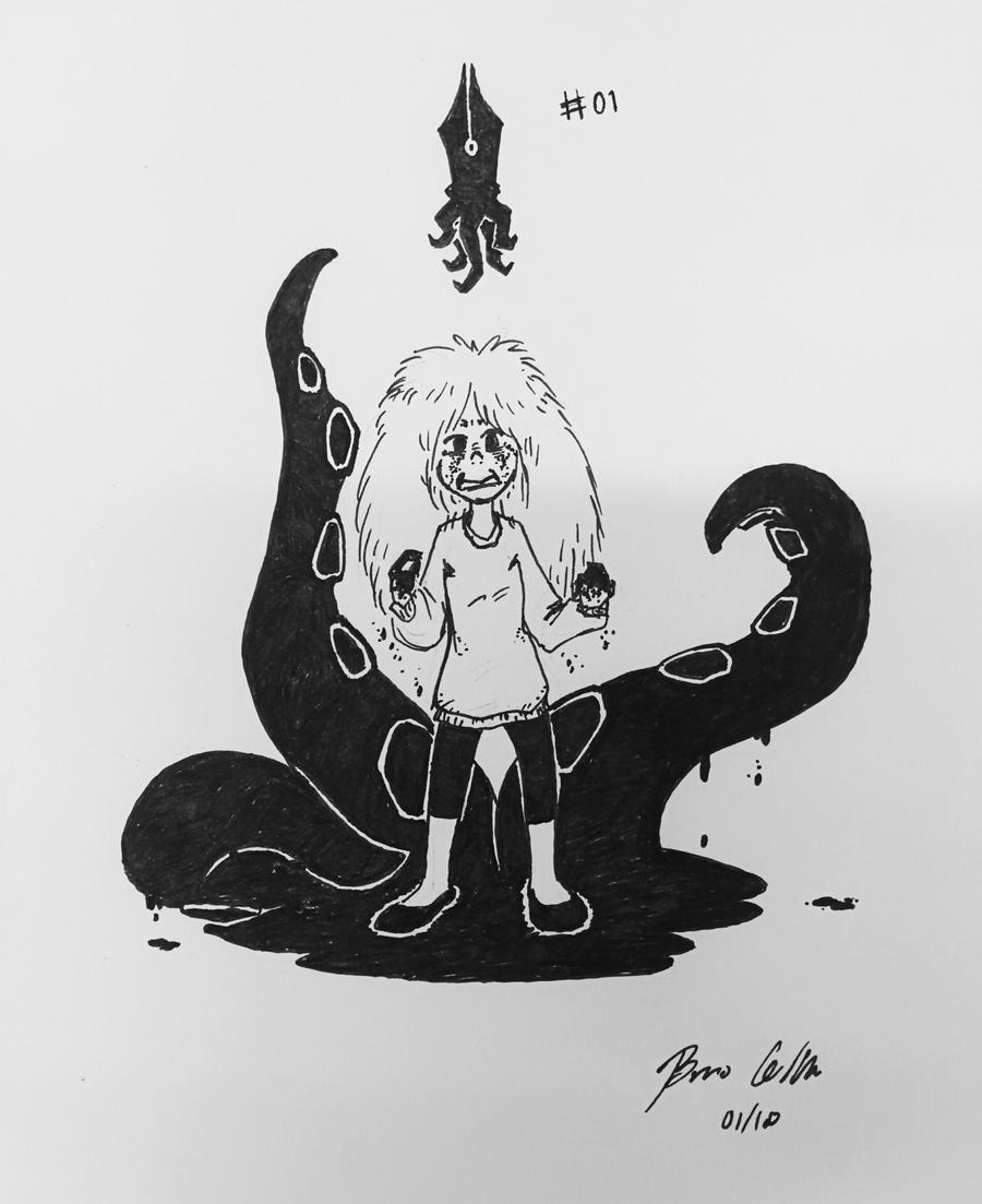 Inktober 2018 - Eirani and the Power of The Ink by pro-mole