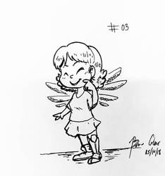 Inktober 2018 - Little Angel by pro-mole