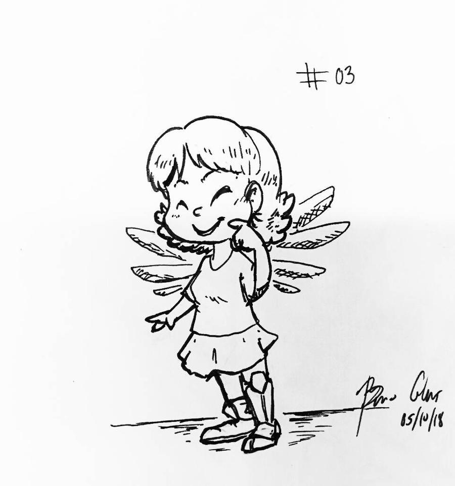 Inktober 2018 - Little Angel by pro-mole