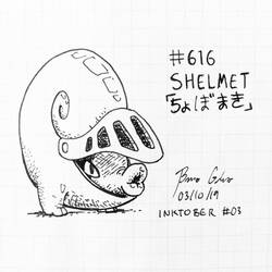 Inktober 2019 #03 - Shelmet