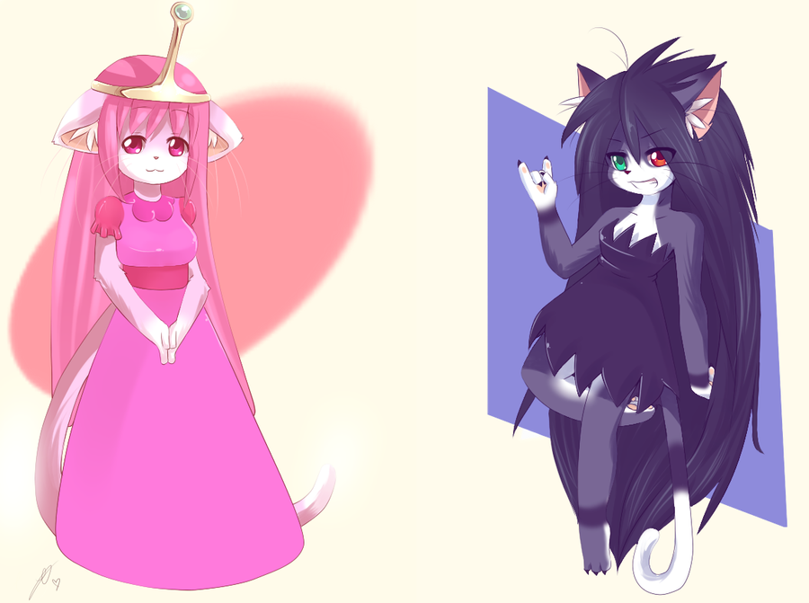 marceline and princess bubblegum by luisana100 on deviantart