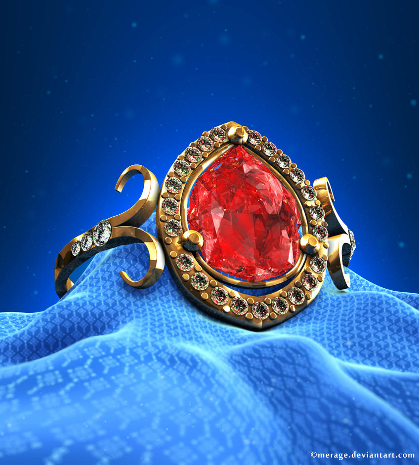 Golden Ruby Ring by merage