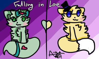 Falling in Love by CloverKitty101