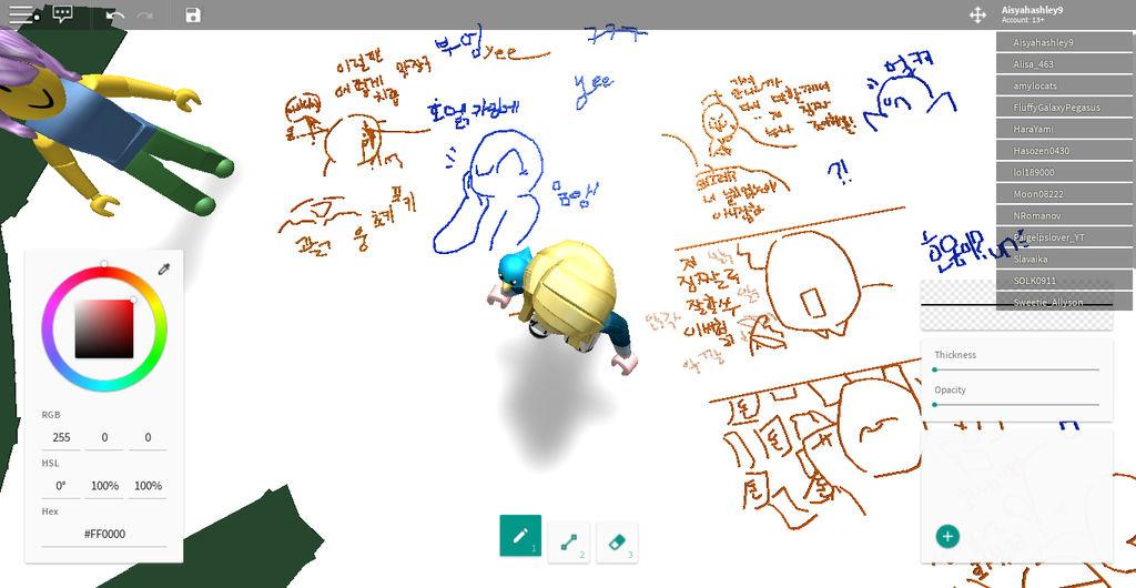 Korean comics on Roblox by CloverKitty101