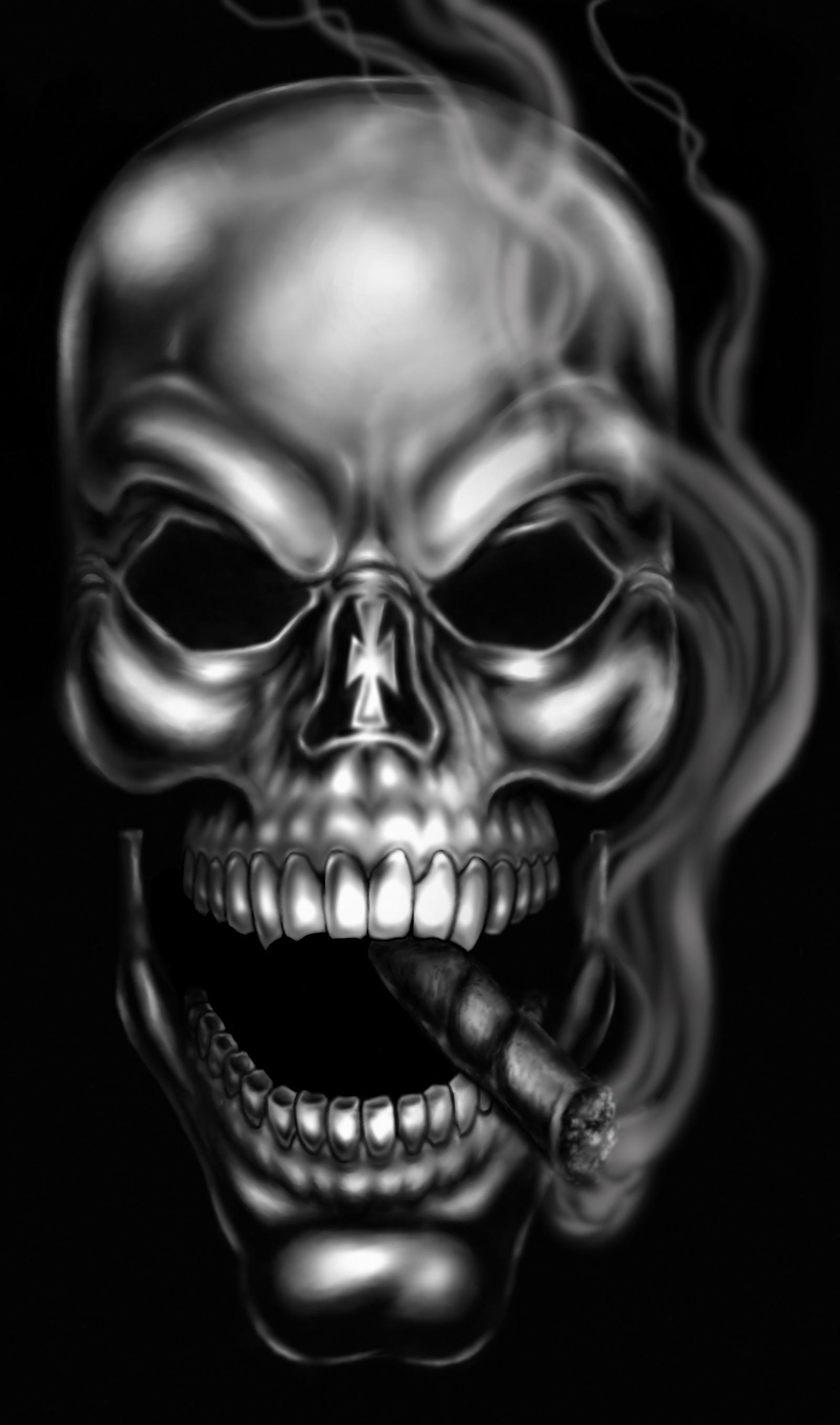 Smoking Skull by RAM by robertmarzullo on DeviantArt