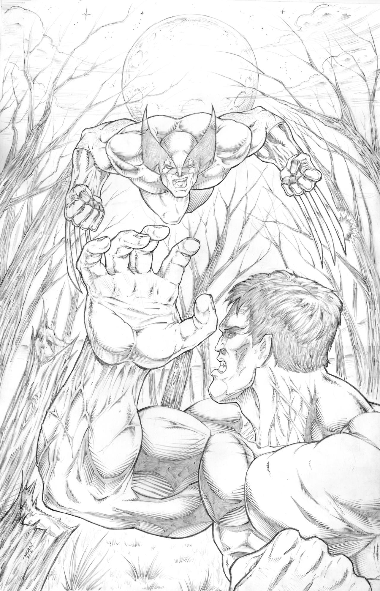 Hulk And Wolverine by Robert A. Marzullo by ramstudios1