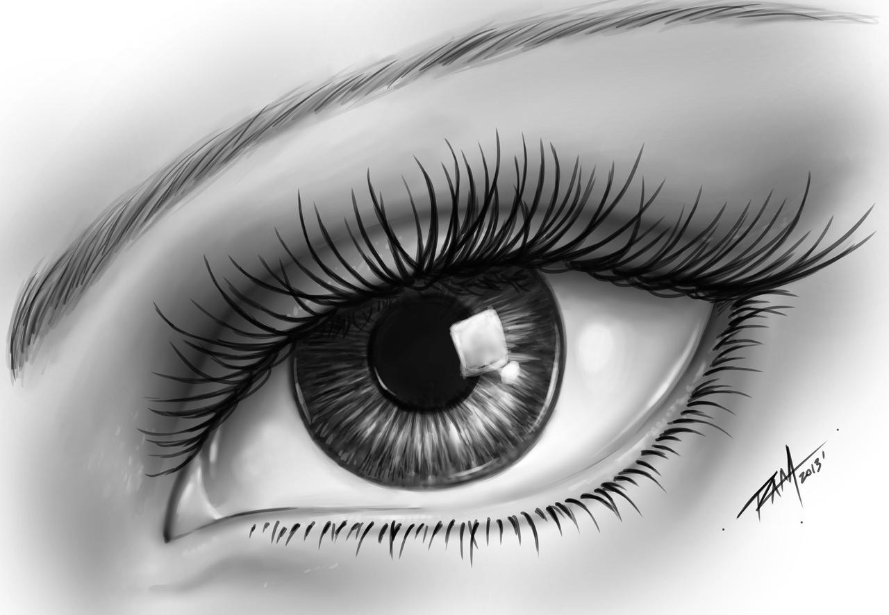 how to make realistic eyes