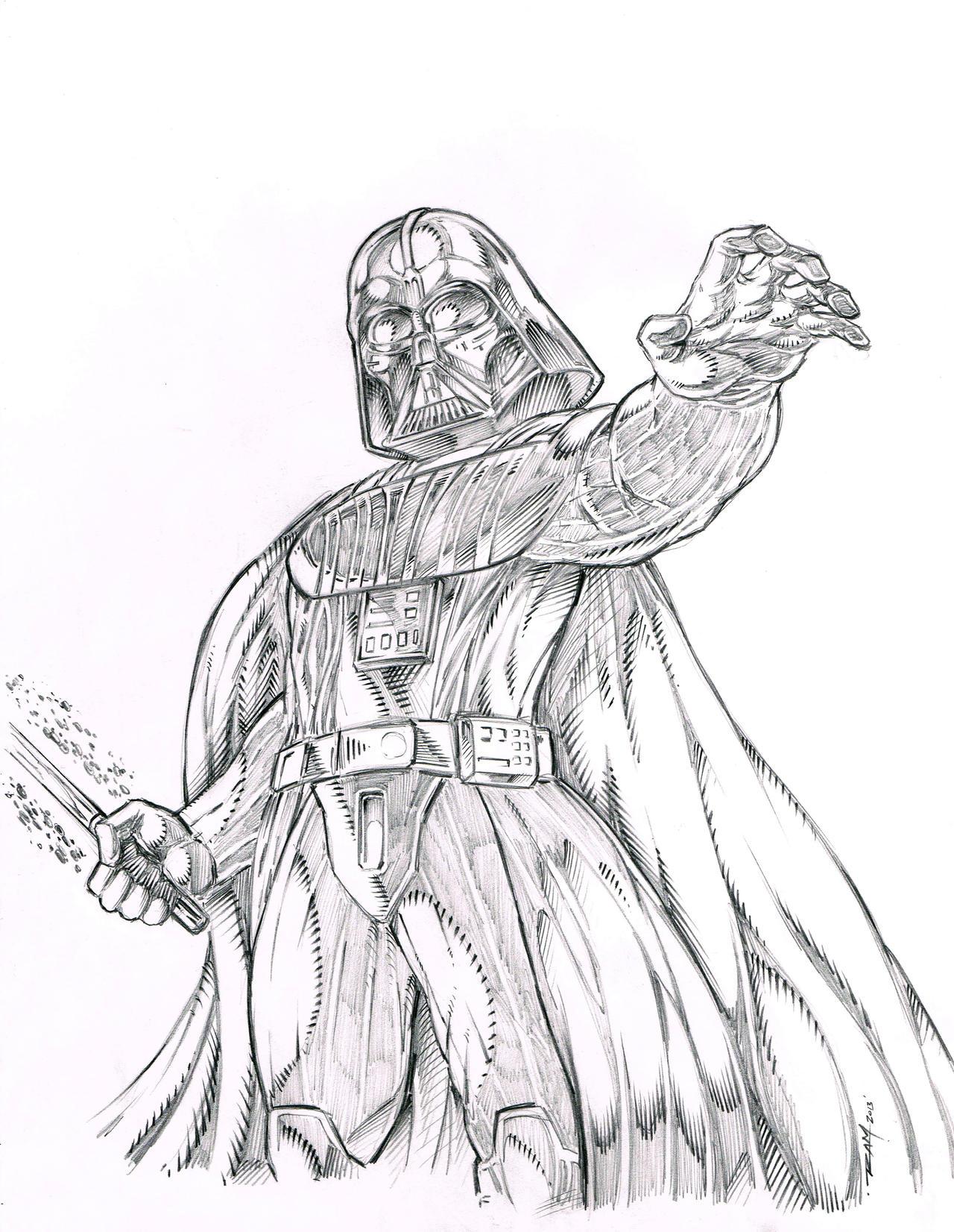 Darth Vader Sketch by Ram by robertmarzullo on DeviantArt