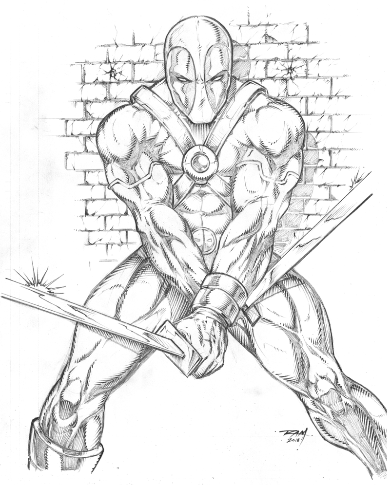 Deadpool Sketch By RAM By Robertmarzullo On DeviantArt