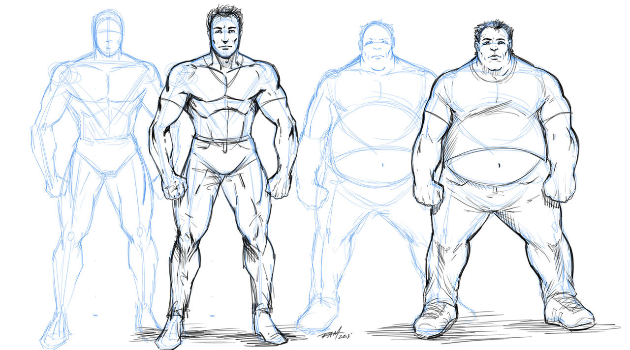 how to draw overweight characters by robertmarzullo on