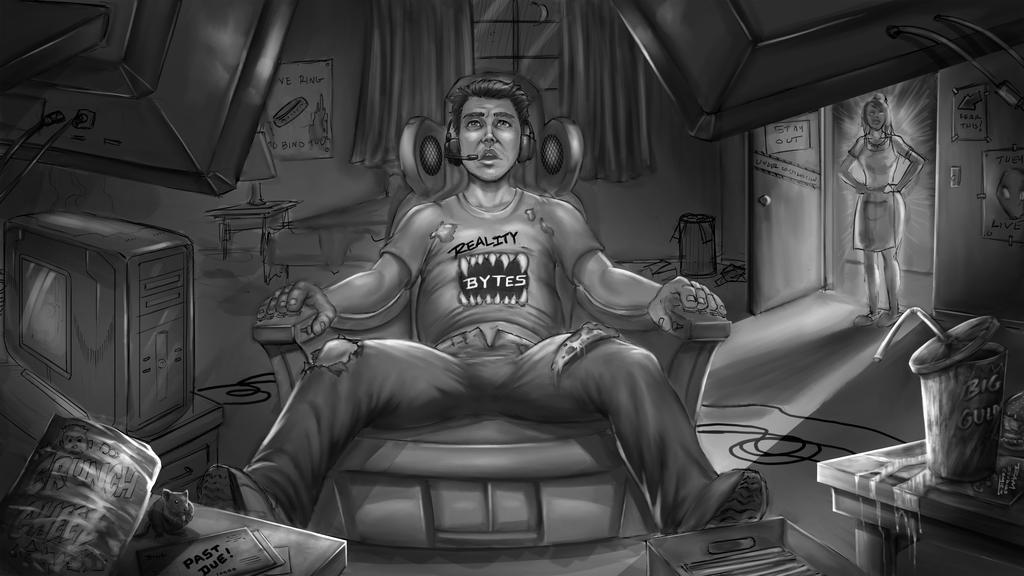 Digital Prison Painting by RAM by ramstudios1