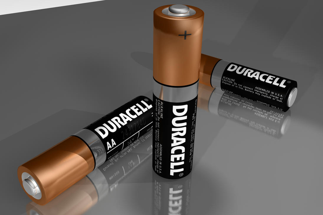 Duracell Batteries 3D by ramstudios1