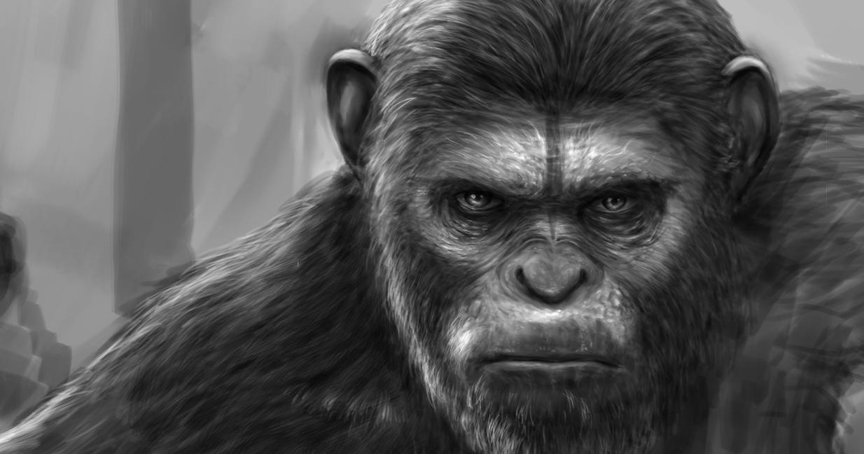 Caesar - Dawn of the Apes W.I.P. by ramstudios1