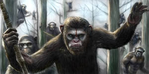 Dawn Of The Apes Painting by Robert Marzullo