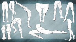 Leg Poses Reference Male and Female by robertmarzullo