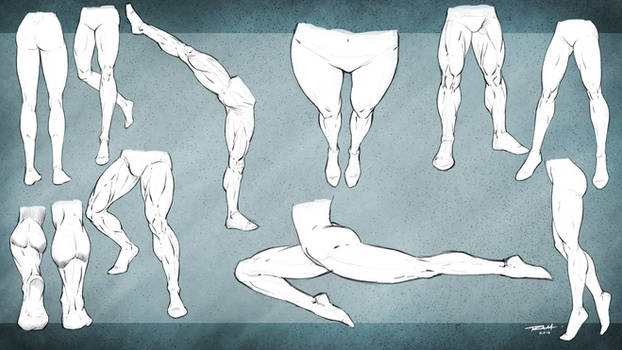 Leg Poses Reference Male and Female