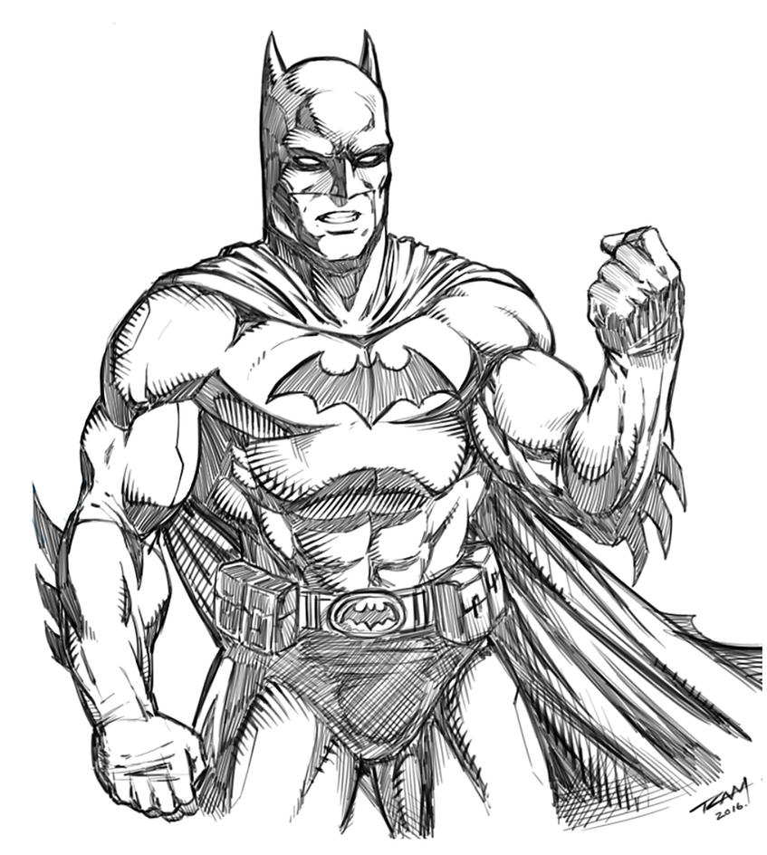 Line Art Comic : Batman drawing by robertmarzullo on deviantart