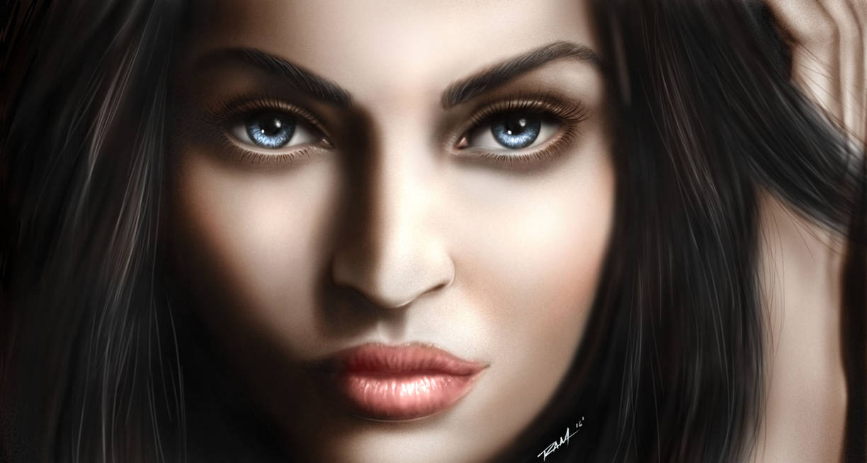 Megan Fox Digital Painting by robertmarzullo