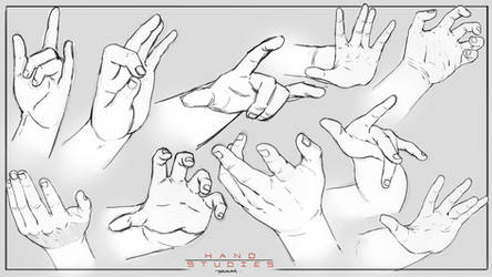 Hand Studies By RAM