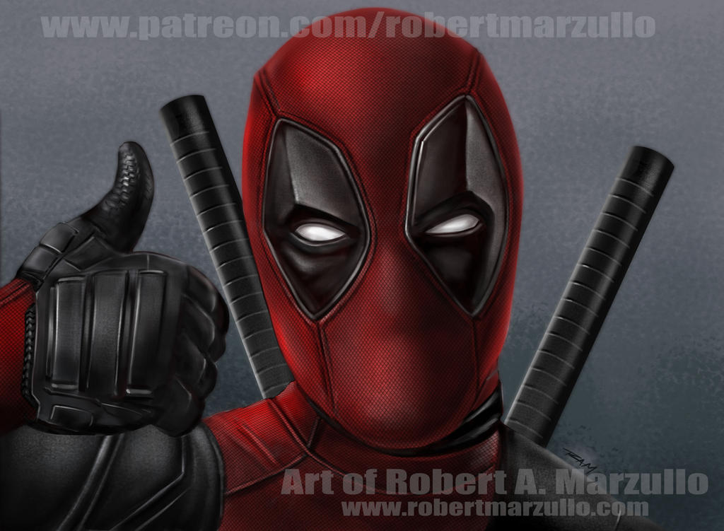 Deadpool Thumbs Up by RAM by robertmarzullo