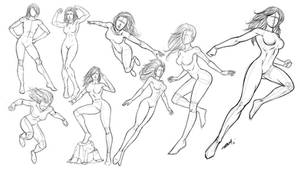 Superhero Girl Poses