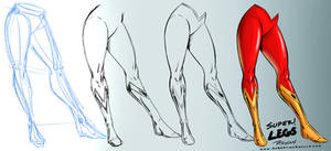 Super Woman Legs Comic Art Style - Reference