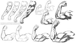 Comic Style Arm Poses Step by Step