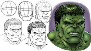How to Draw the Hulk - Step by Step