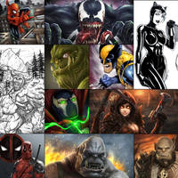 A Year in Review - 2016 Art by robertmarzullo