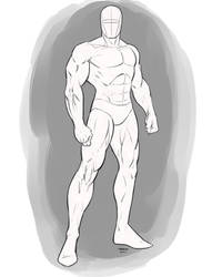 Superhero Pose Male Standing Angle
