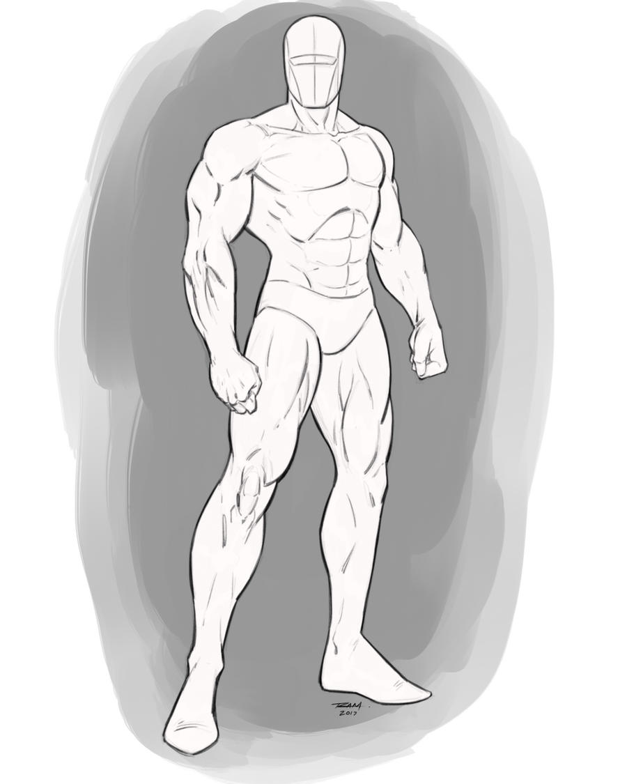 Superhero Pose Male Standing Angle by robertmarzullo
