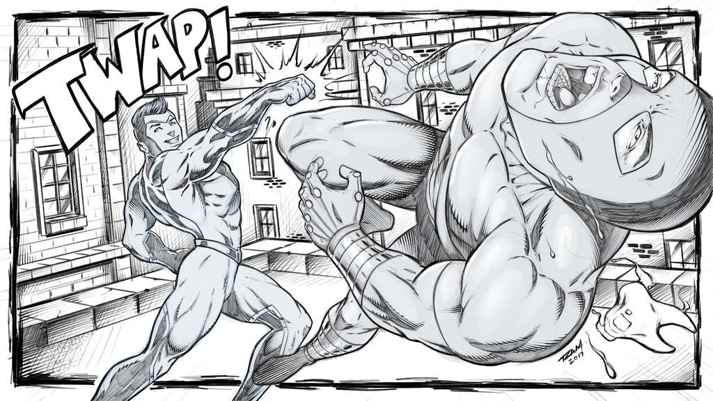 Superhero Fight Scene by robertmarzullo
