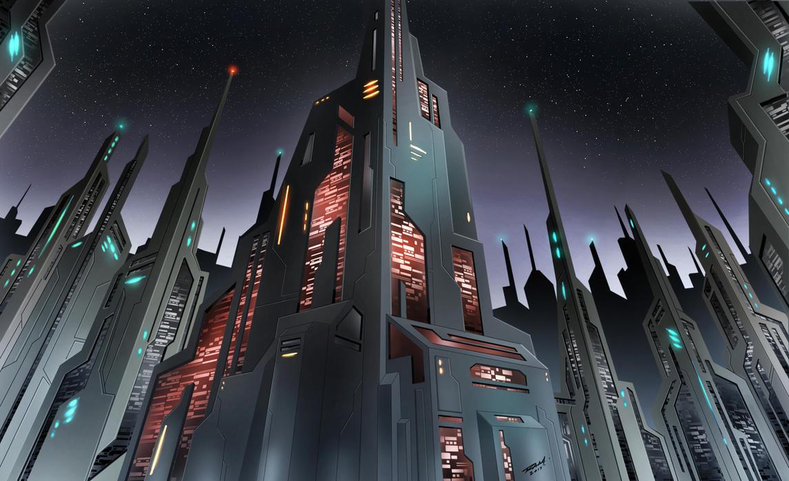 Futuristic City by robertmarzullo