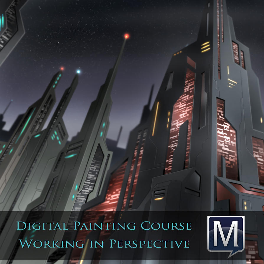 Digital Painting Course Perspective by robertmarzullo