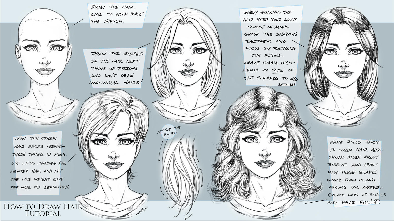 how to draw comic style hair tutorial by robertmarzullo on deviantart. Black Bedroom Furniture Sets. Home Design Ideas