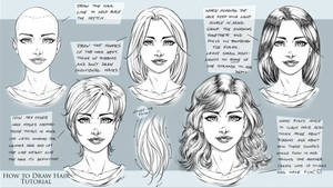 How to Draw Comic Style Hair - Tutorial