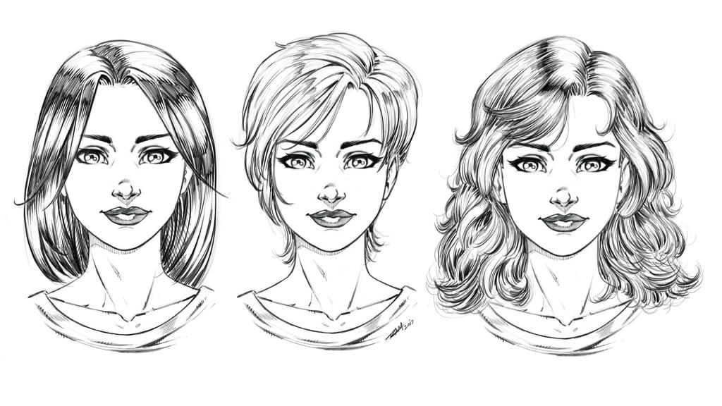 How to Draw Comic Style Hair 3 Ways Art File by robertmarzullo