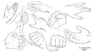 Hand Sketches - 10 Different Poses by robertmarzullo