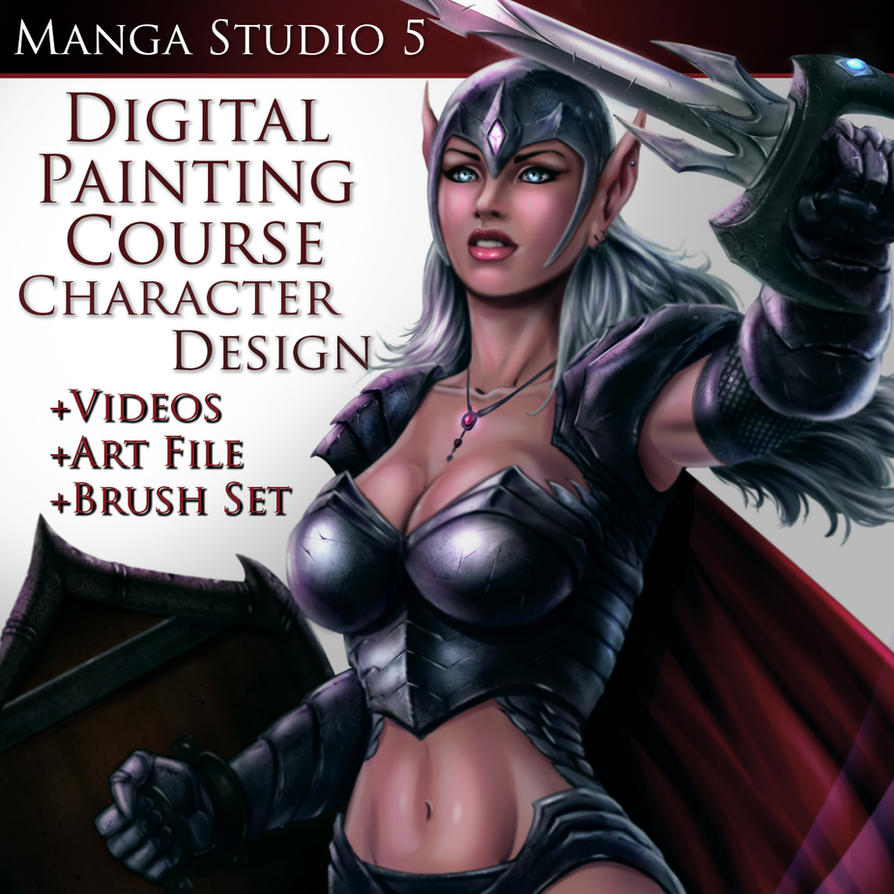 Digital Painting MS Course Cover-2 by robertmarzullo