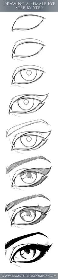 Female Comic Eye Tutorial - Step by Step