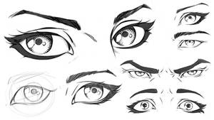 Comic Eyes Study Sheet