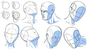 How to Draw Heads at Various Angles - Reference