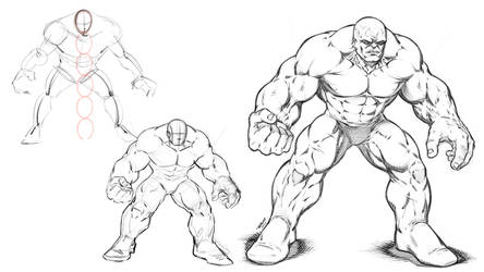 Drawing a Hulking Brute by robertmarzullo