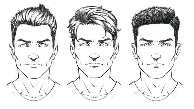 How to Draw Comic Style Hair - Male Characters