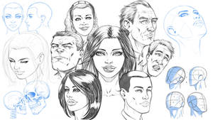 How to Draw Comic Style Heads