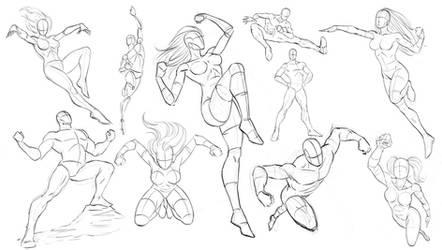 Drawing Dynamic Comic Book Poses