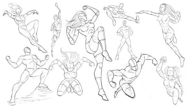 Drawing Dynamic Comic Book Poses
